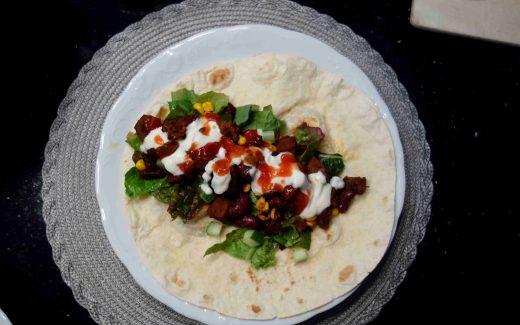 mexikanische Wraps mit Jackfruchtfleisch- vegan und lecker
