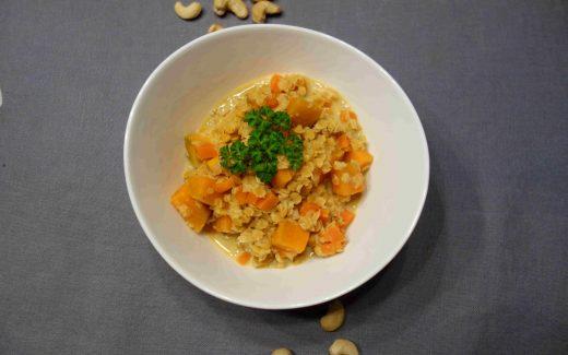 indischer Linsen-Süßkartoffel-Eintopf