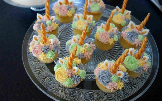 Einhorncupcakes, unicorn cupcakes