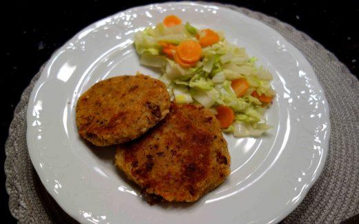 Linsen-Pilz-Buletten, lentil-mushroom-patties