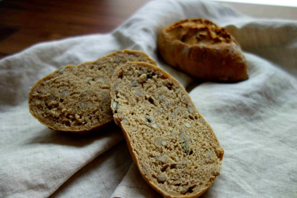 Spelt And Emmer Rolls With Lots Of Seeds