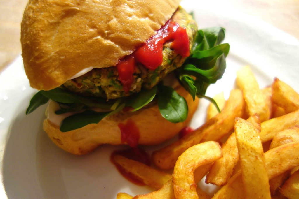 Vegan Veggie Burgers with Sweetcorn, Peas and Soy