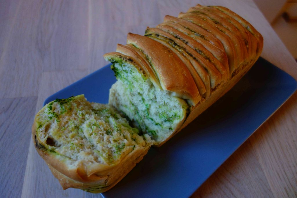 Vegan Pull-Apart-Bread With Wild Garlic