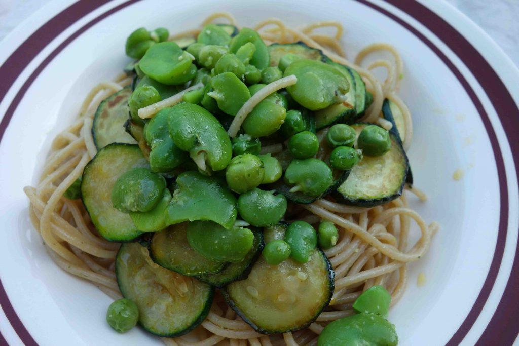 grüne Gemüsepasta