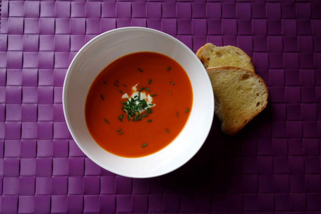 Roasted Bell Pepper And Tomato Soup