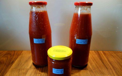 rustikale Tomatensauce, rustic homemade tomato sauce