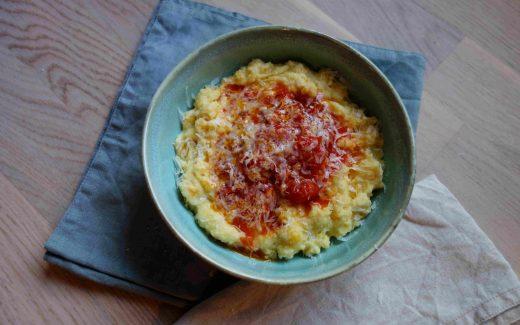 Creamy Polenta With Tomato Ragout