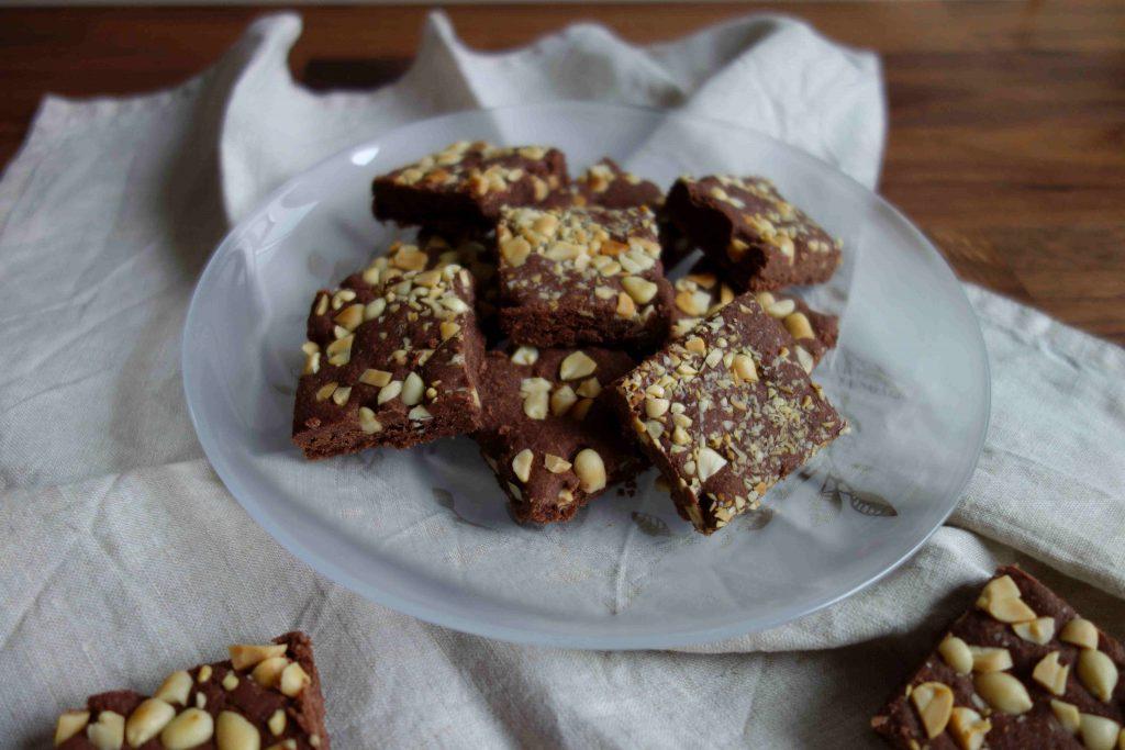 Vegan Chocolate Peanut Christmas Cookies