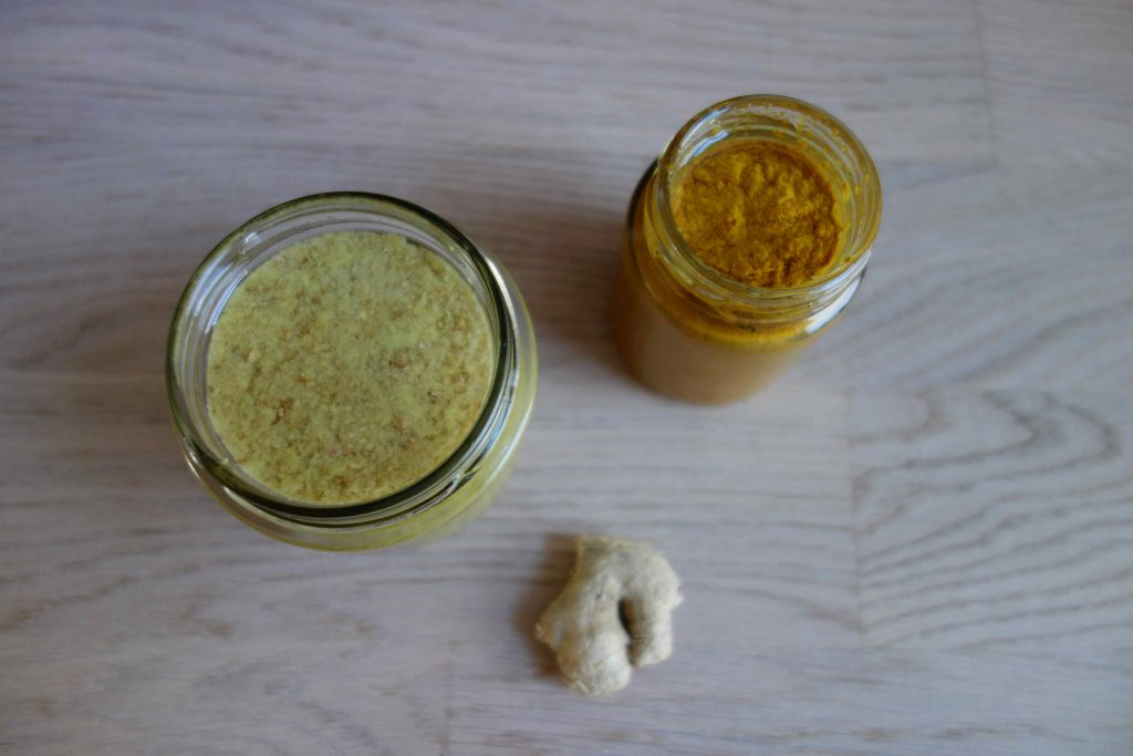 ginger and turmeric paste